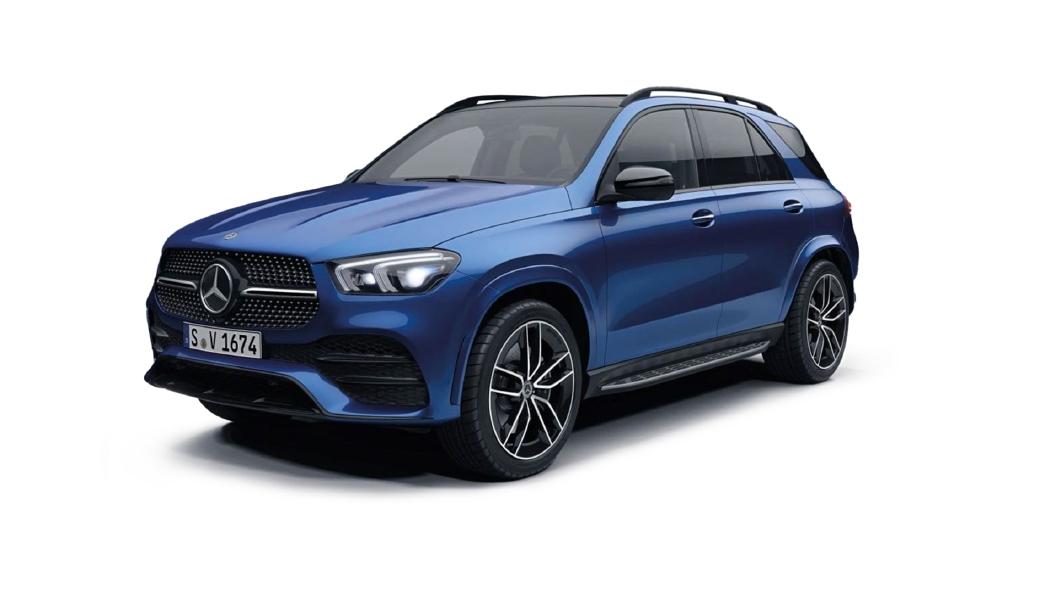 Mercedes Benz  GLE Brilliant Blue Colour