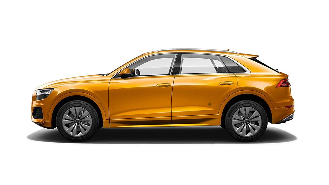 Audi  Q8 Dragon Orange Metallic Colour