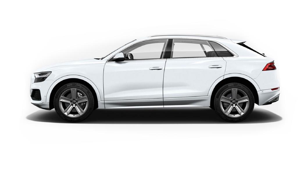 Audi  Q8 Glacier White Metallic Colour