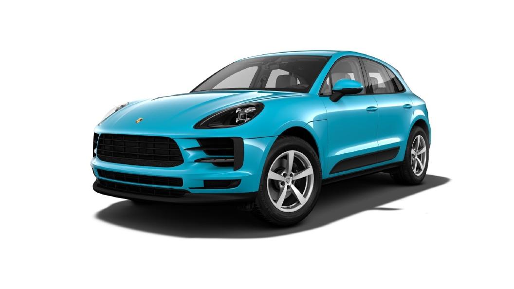Porsche  Macan Miami Blue Colour