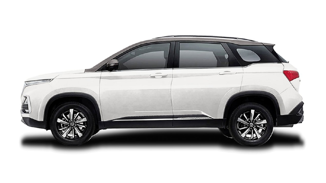 MG  Hector Candyy White with Starry Black Colour