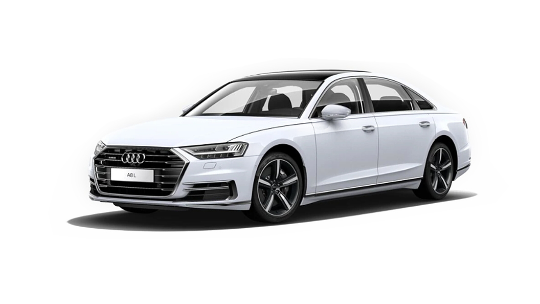 Audi  A8 L Glacier White Metallic Colour