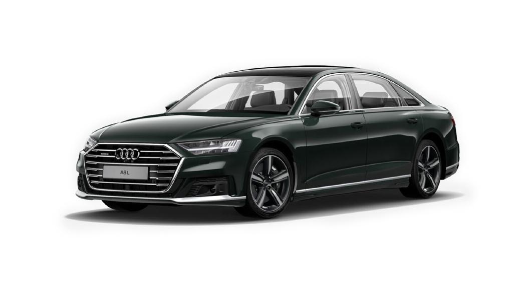 Audi  A8 L Goodwoodgrun Perleffekt Colour