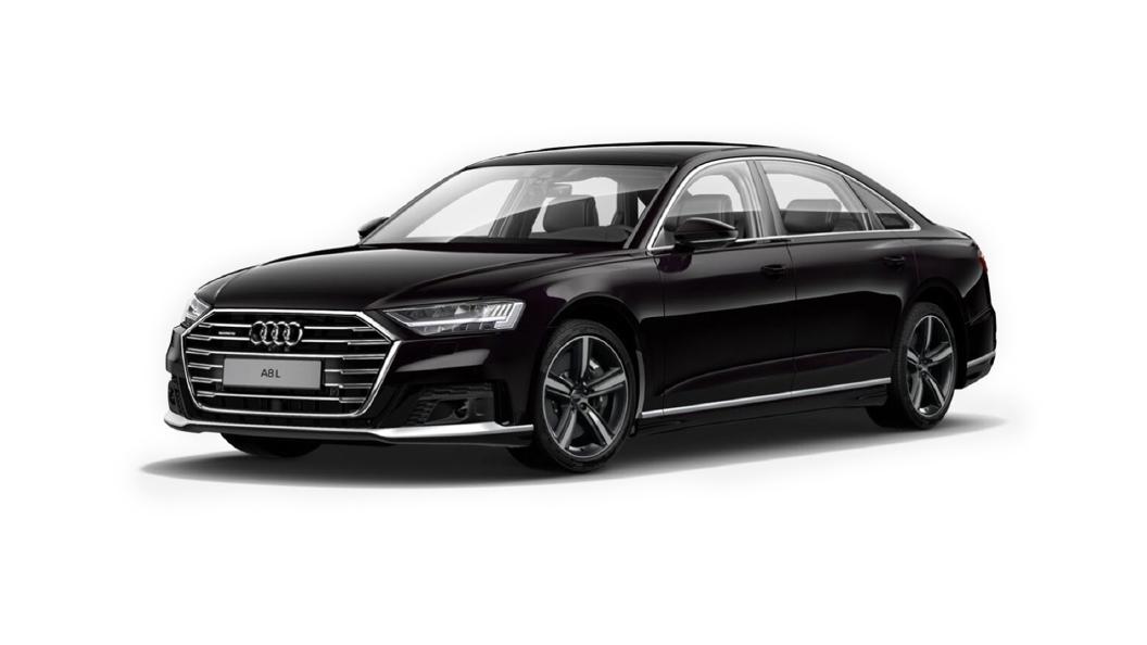 Audi  A8 L Kirschschwarz Perleffekt Colour