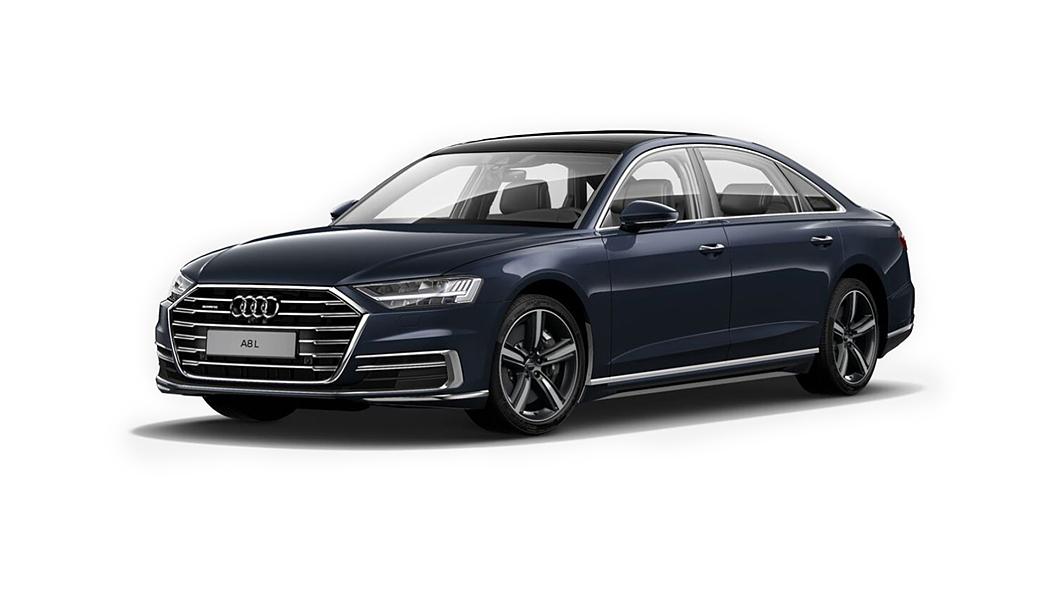 Audi  A8 L Moonlight Blue Metallic Colour
