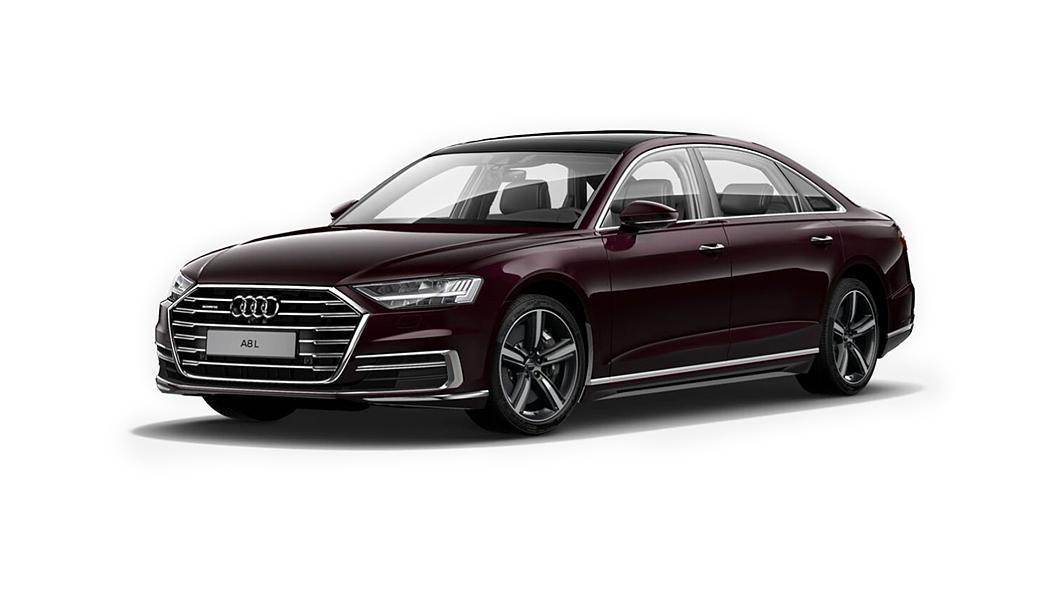 Audi  A8 L Seville Red Metallic Colour