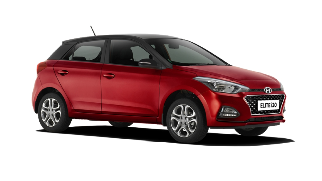 Hyundai  Elite i20 Fiery Red / Black Colour