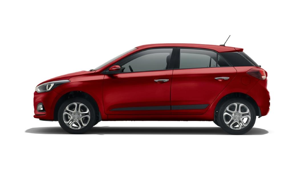 Hyundai  Elite i20 Fiery Red Colour
