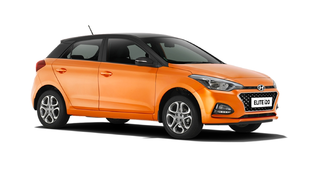 Hyundai  Elite i20 Passion Orange / Black Colour