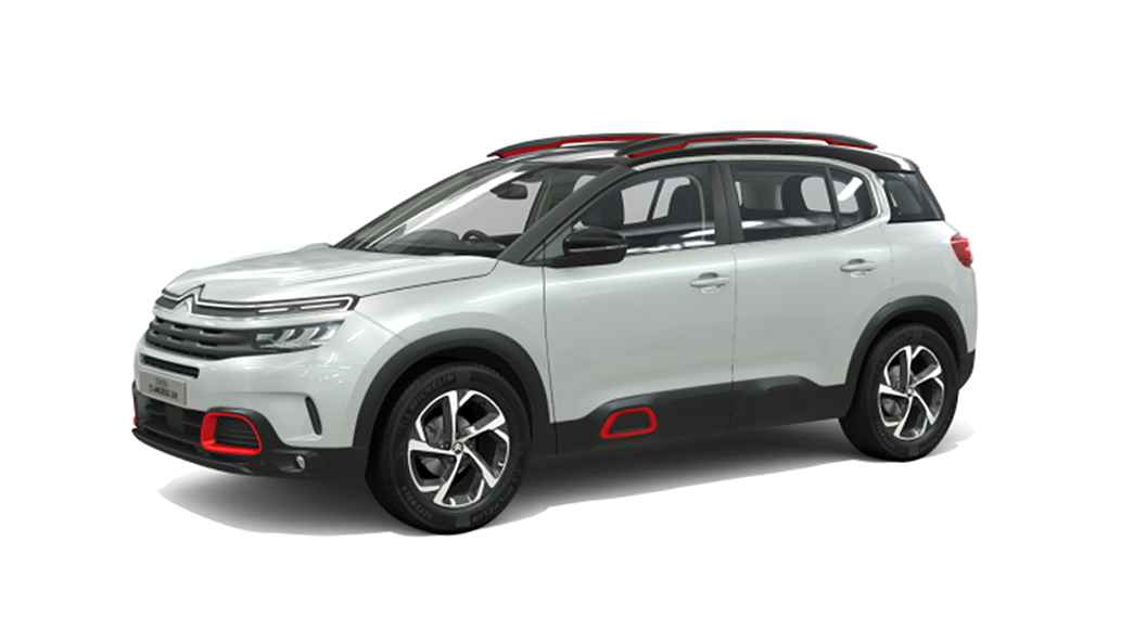 Citroen  C5 Aircross Pearl White with black Roof Colour