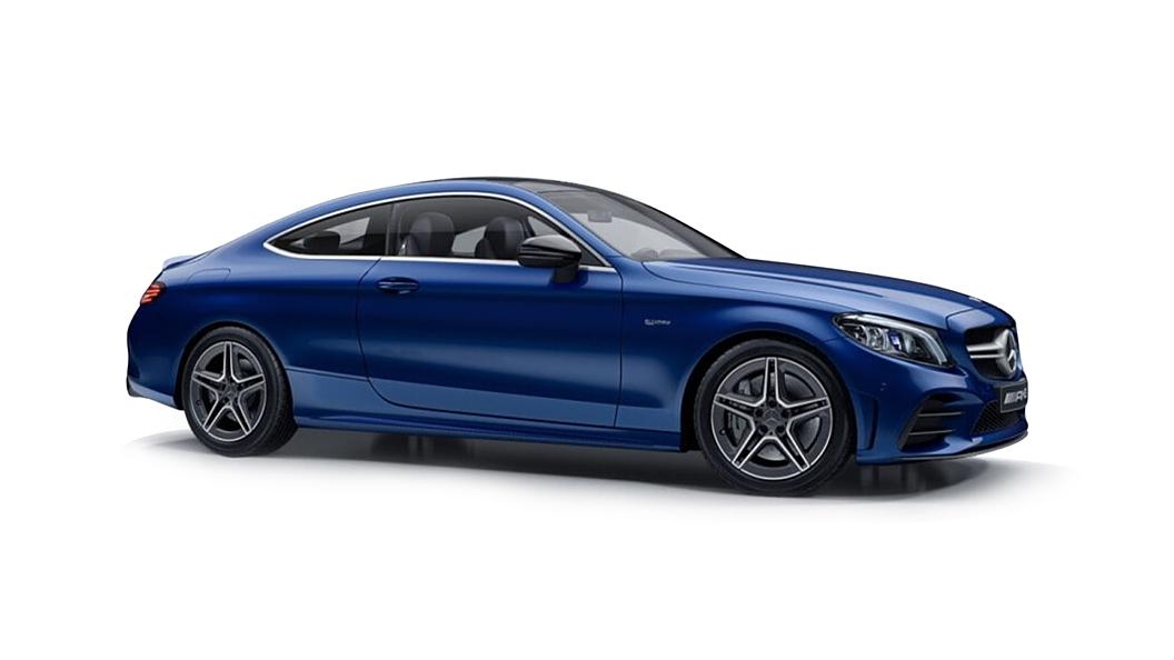 Mercedes Benz  C-Coupe Brilliant Blue Colour
