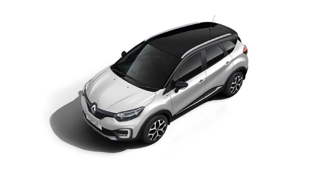 Renault  Captur Pearl White/Mystery Black Colour