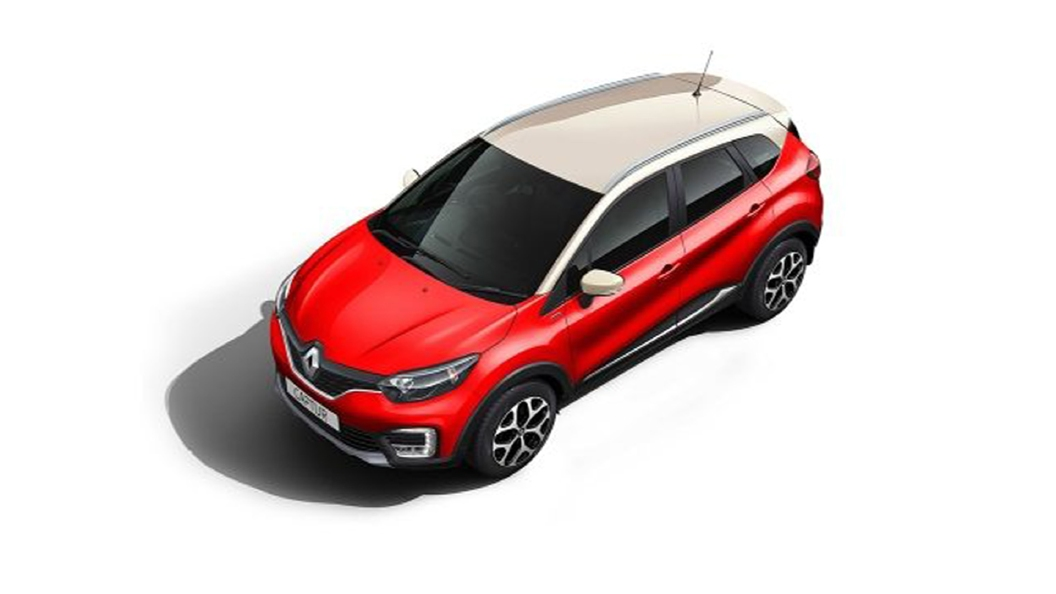 Renault  Captur Radiant Red/Marble Ivory Colour