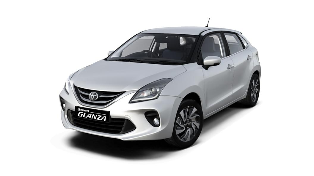 Toyota  Glanza Cafe White Colour