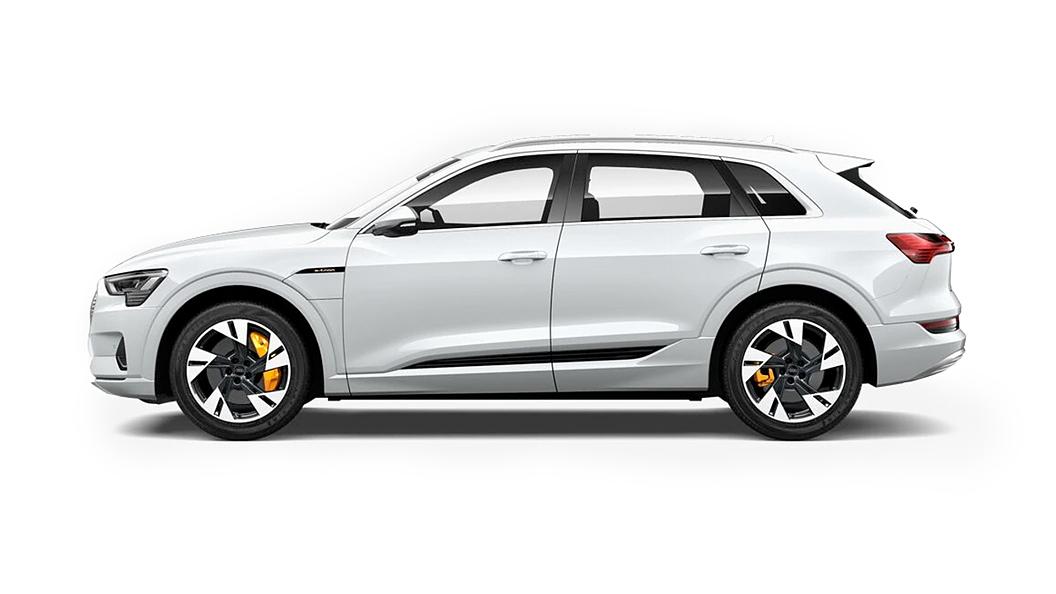 Audi  E-tron Glacier White Metallic Colour
