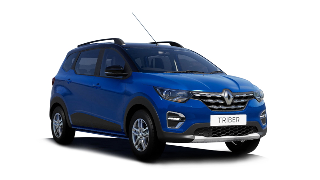 Renault  Triber Electric Blue with Black Roof Colour