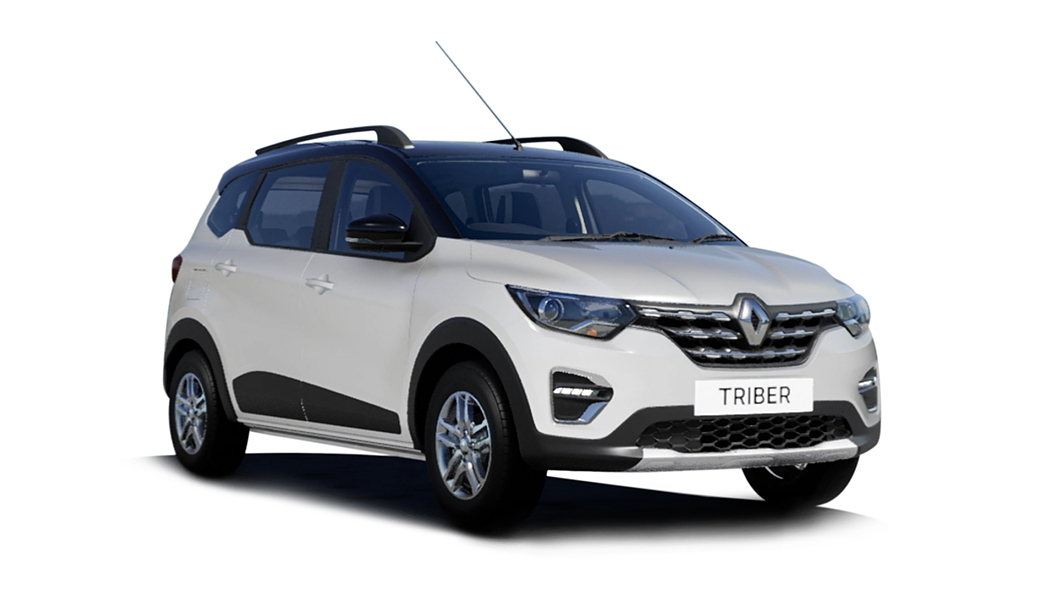 Renault  Triber Ice Cool White with Black Roof Colour