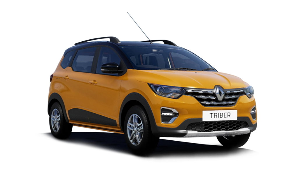 Renault  Triber Metal Mustard with Black Roof Colour