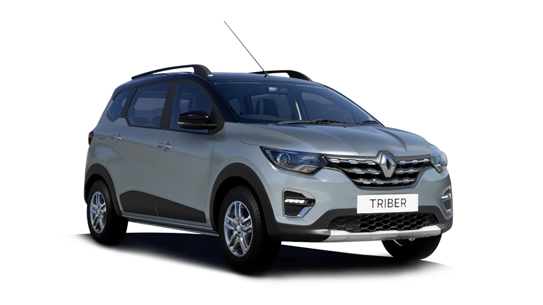 Renault  Triber Moonlight Silver with Black Roof Colour
