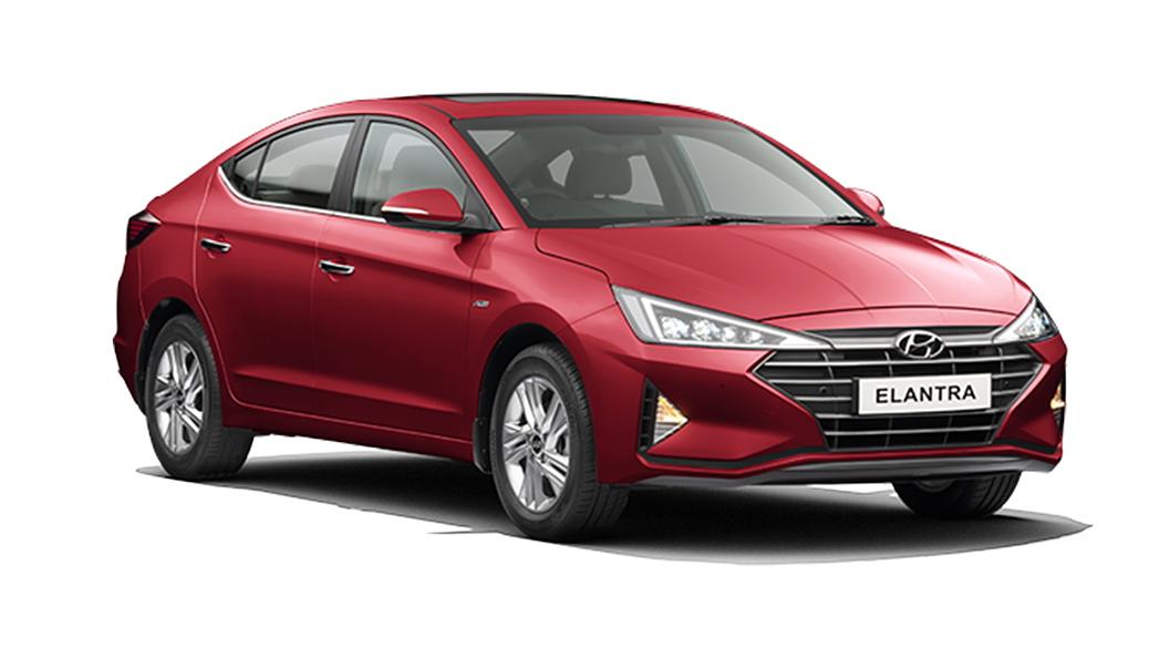 Hyundai  Elantra Fiery Red Colour