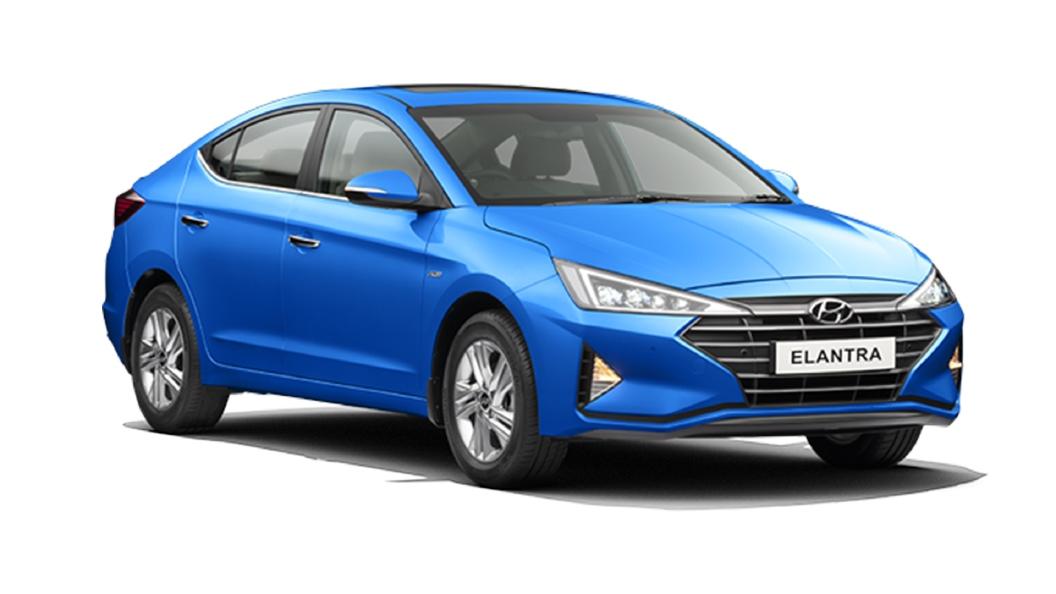 Hyundai  Elantra Marina Blue Colour