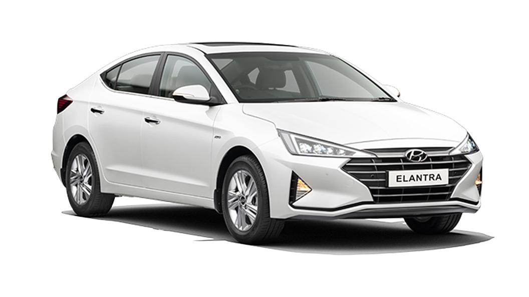 Hyundai  Elantra Polar White Colour