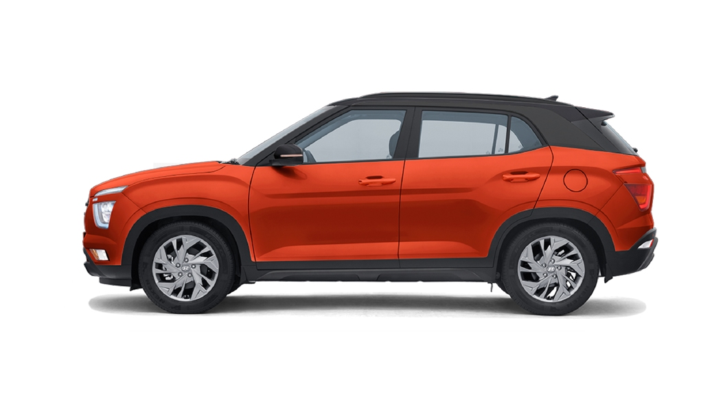 Hyundai  Creta Lava Orange,Phantom Black Colour