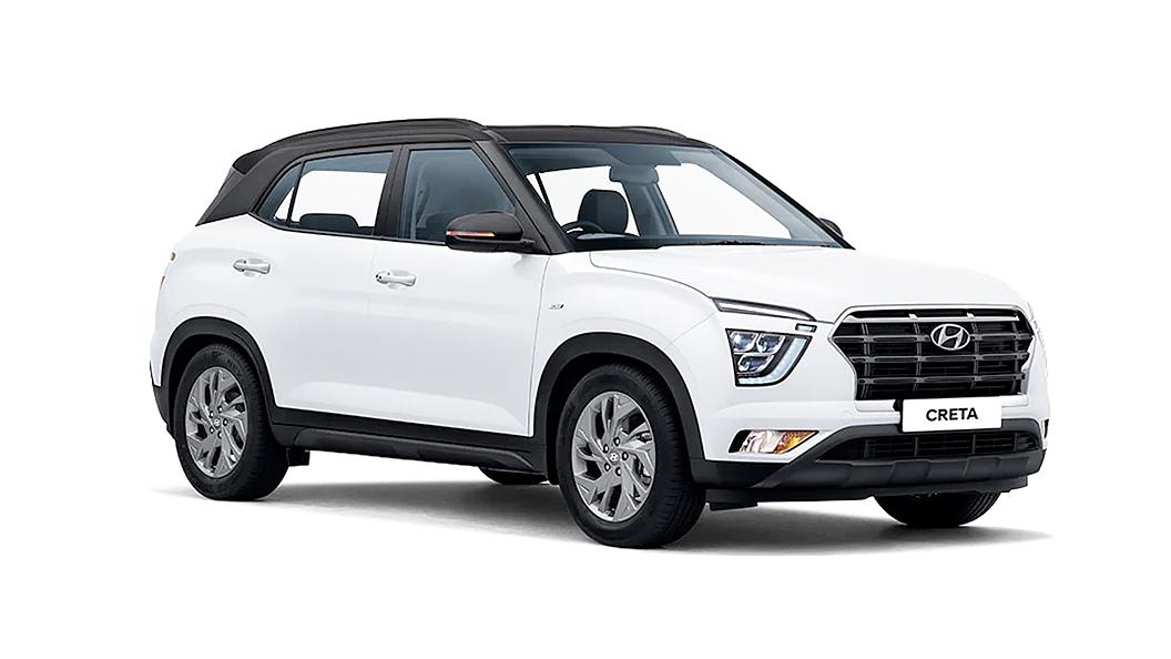Hyundai  Creta Polar White,Phantom Black Colour