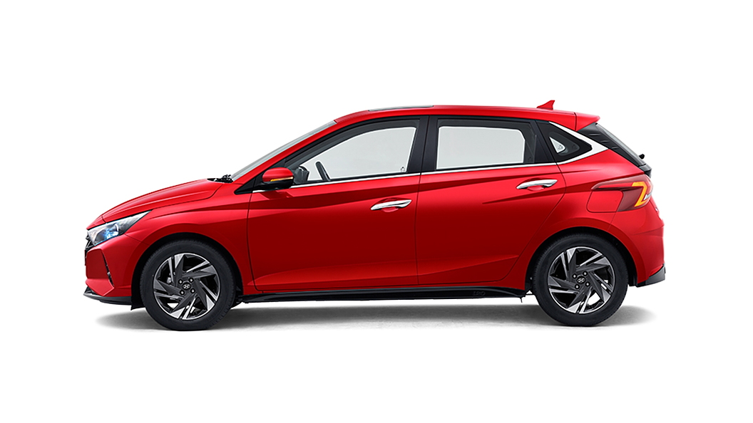 Hyundai  I20 Fiery Red Colour