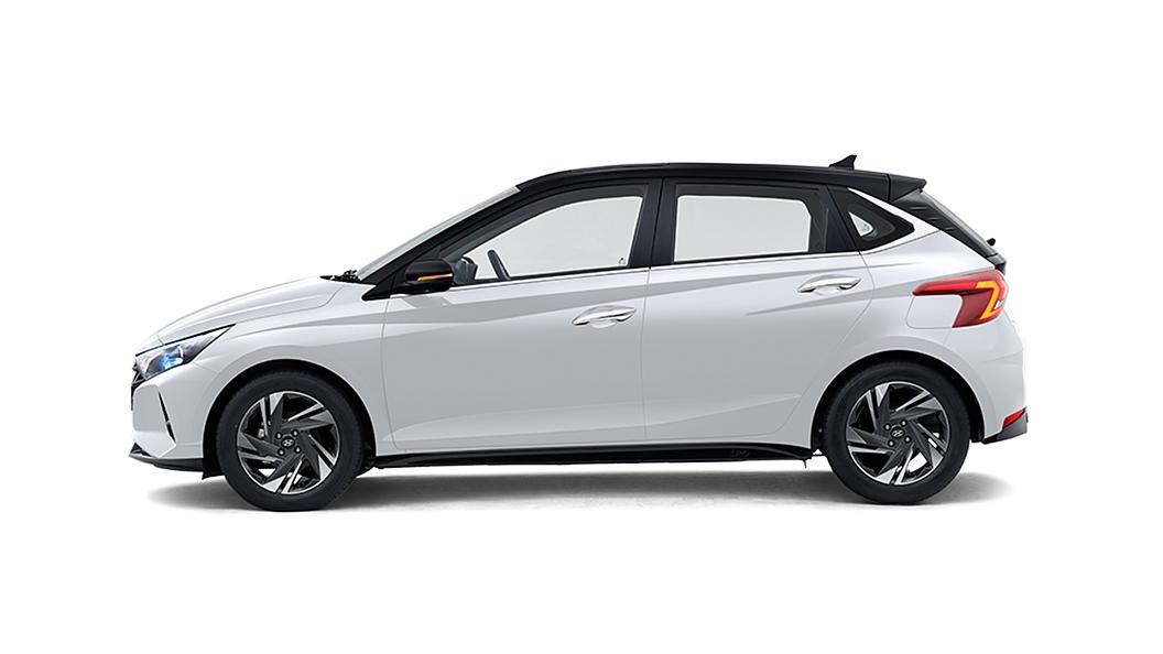 Hyundai  I20 Polar White with Black Roof Colour