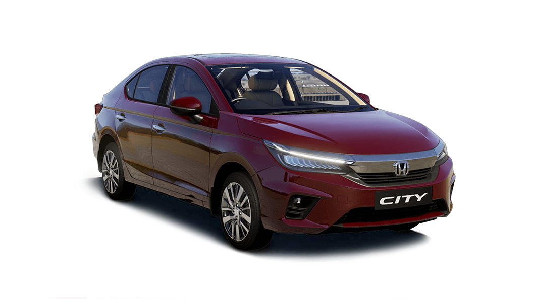 Honda  All New City Radiant Red Metallic Colour