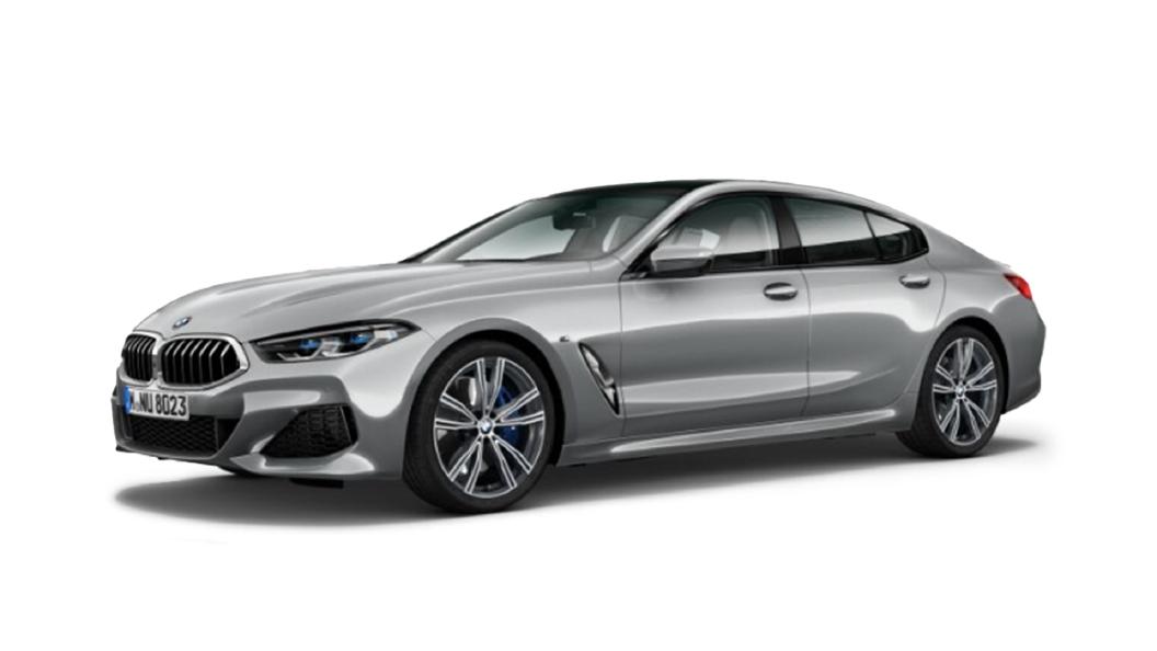 BMW  8 Series Pure metal Silver Colour