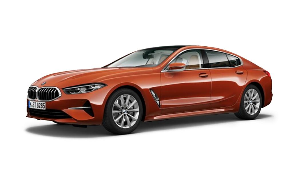 BMW  8 Series Sunset Orange metallic Colour