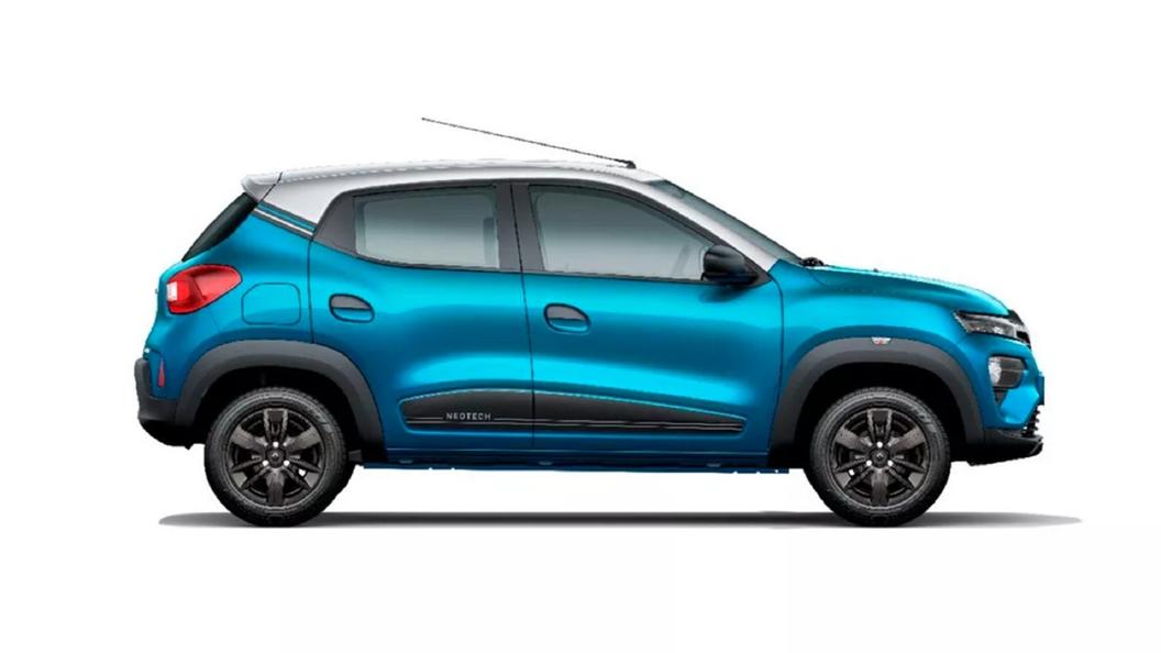 Renault  Kwid Zanskar Blue with Moonlight Silver Colour