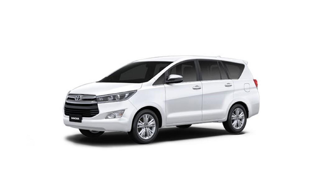 Toyota  Innova Crysta Super White Colour