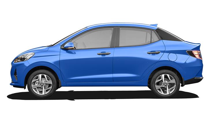 Hyundai  Aura Alpha Blue Colour