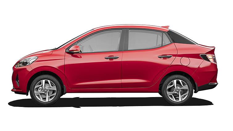 Hyundai  Aura Fiery Red Colour