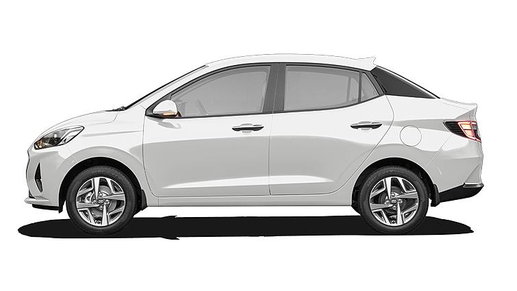 Hyundai  Aura Polar White Colour