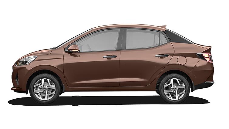 Hyundai  Aura Vintage Brown Colour