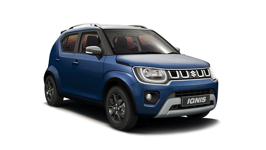 Maruti Suzuki  Ignis Nexa Blue with Silver Roof Colour