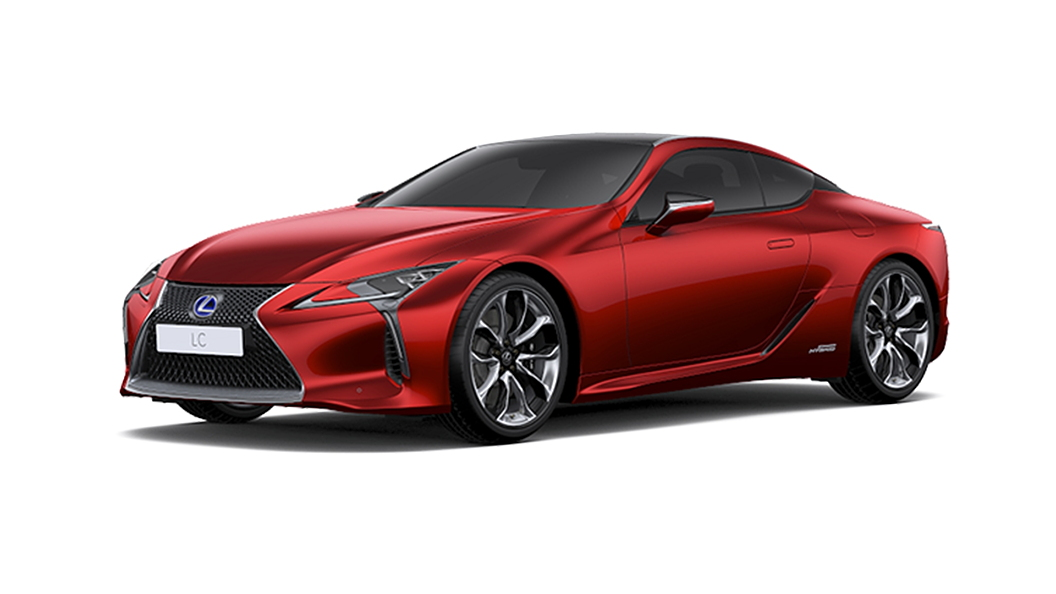 Lexus  LC 500h Radiant Red Contrast Layering Colour