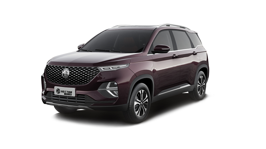 MG  Hector Plus Burgundy Red Colour