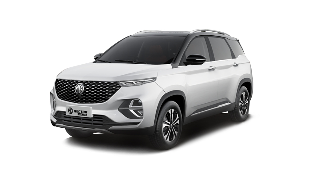 MG  Hector Plus Candy White with Starry Black Colour