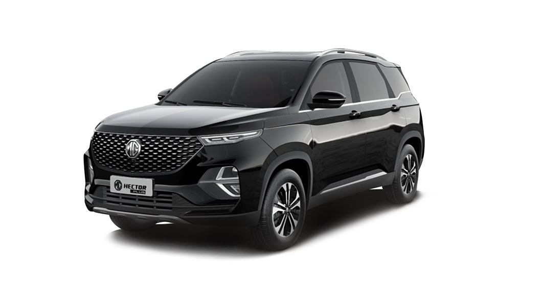 MG  Hector Plus Starry Black Colour