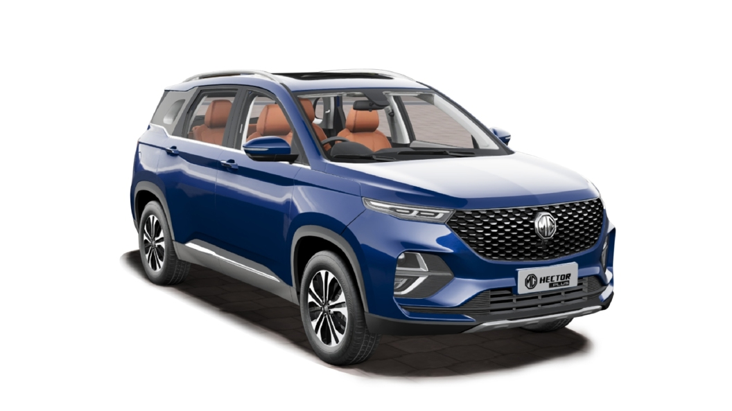 MG  Hector Plus Starry Sky Blue Colour