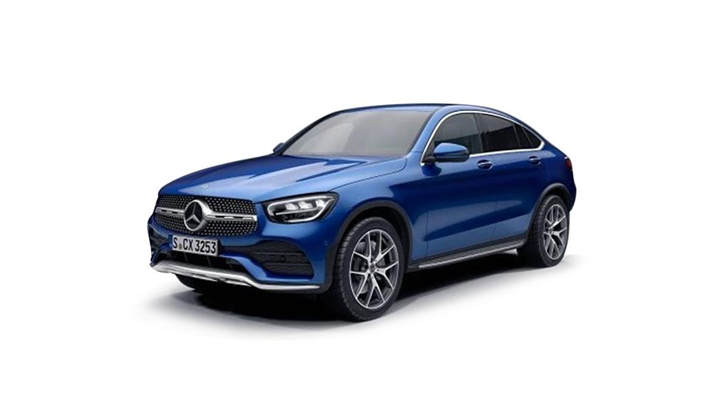 Mercedes Benz  GLC Coupe Brilliant Blue Colour
