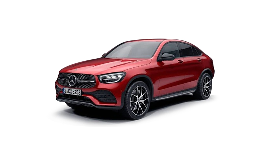 Mercedes Benz  GLC Coupe Hyacinth Red Metallic Colour