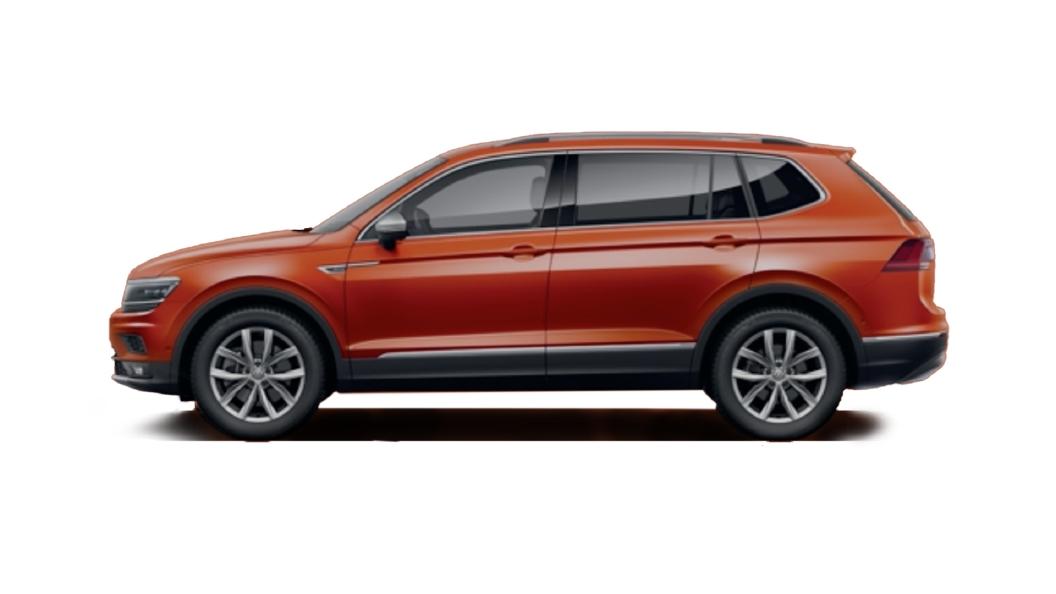 Volkswagen  Tiguan AllSpace Habanero Orange Metallic Colour