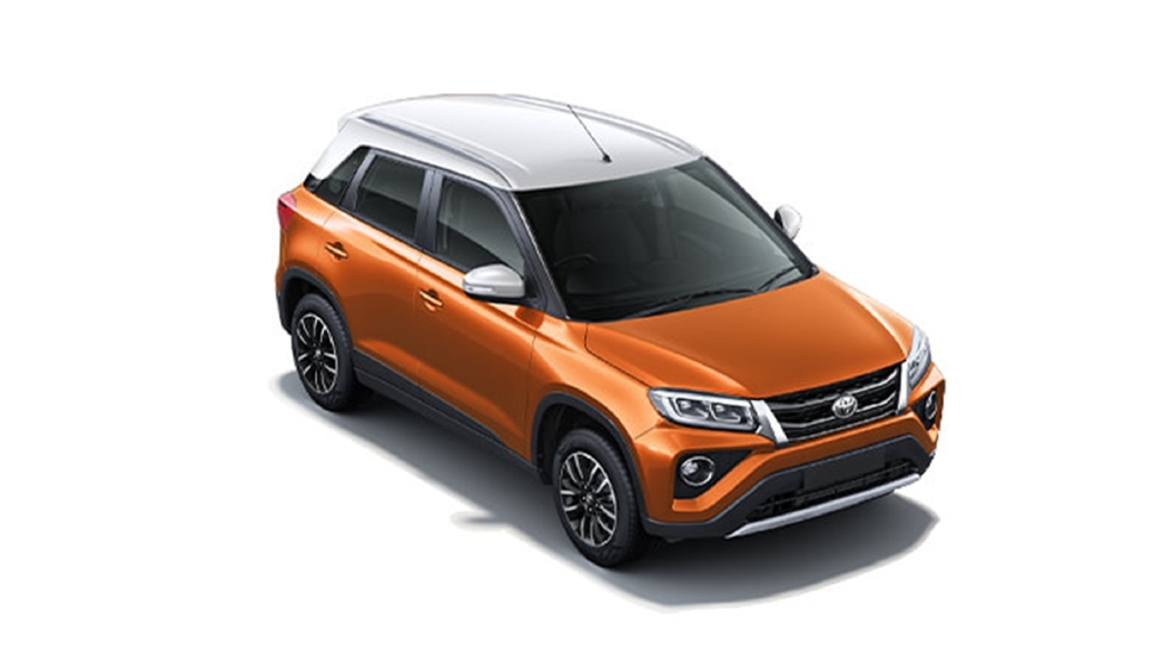 Toyota  Urban Cruiser Gorrvy Orange with Sunny White Roof Colour