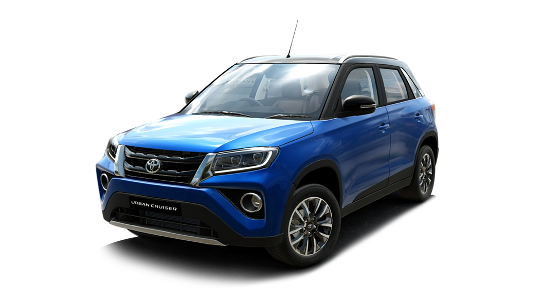 Toyota  Urban Cruiser Spunky Blue with Sizzling Black Roof Colour